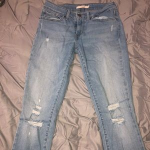 Levi ripped skinny jeans
